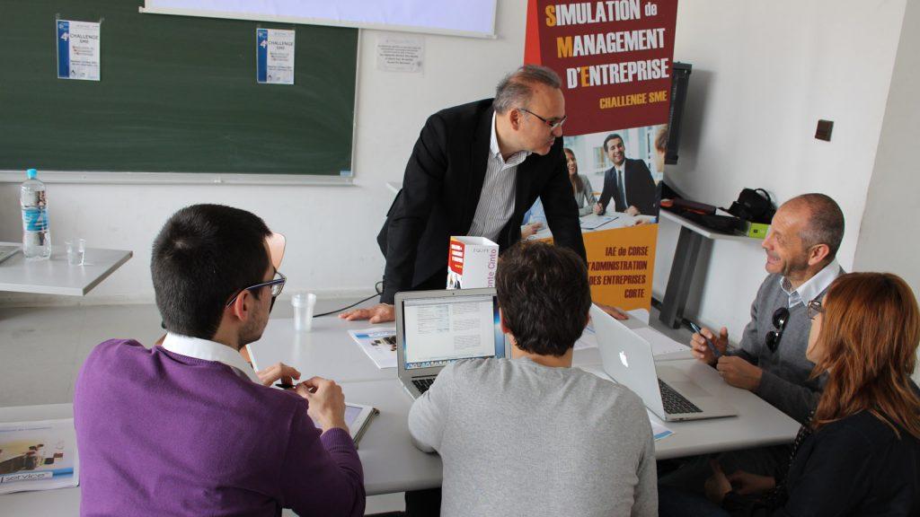 L'école universitaire de management organise chaque année un challenge de simulation d'entreprise