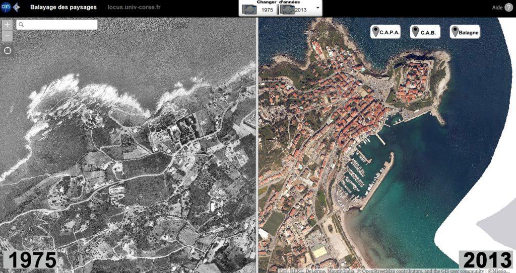 Carte interactive sur l'évolution des paysages