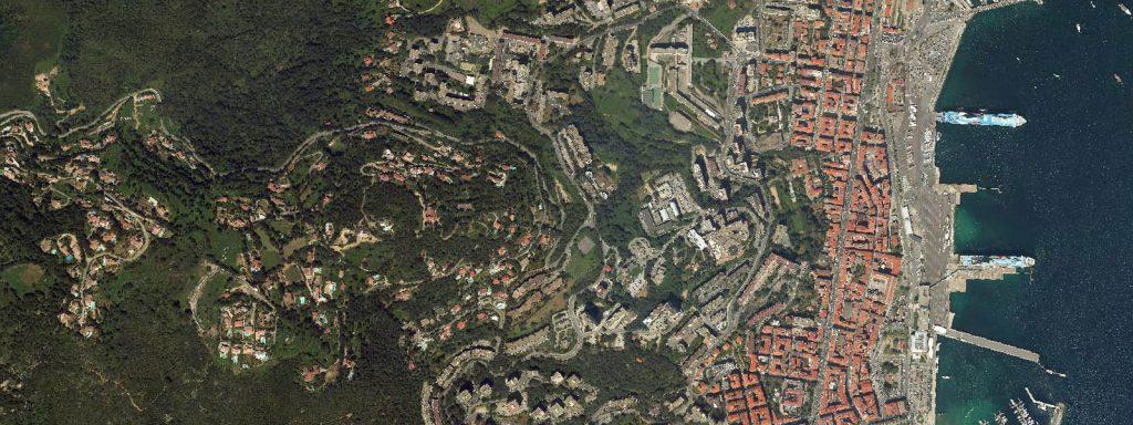 Vue aérienne extraite de la plateforme LOCUS