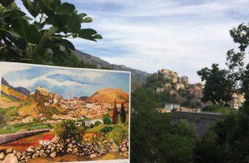 Corte mise en regards, parcours patrimonial créé par l'Université de Corse et la Ville de Corte. Des représentations de Corte (photos, peintures...) placées au lieu même de leur prise de vue.