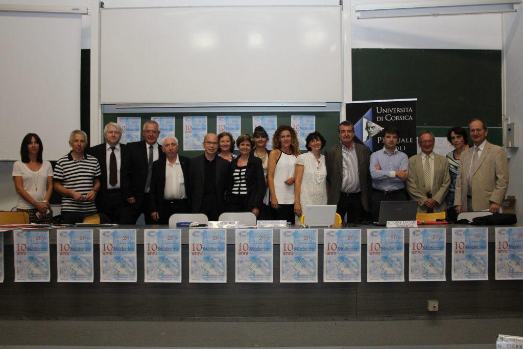 Les acteurs du département Santé de l'Université de Corse, réunis à l'occasion des 10 ans de la PACES