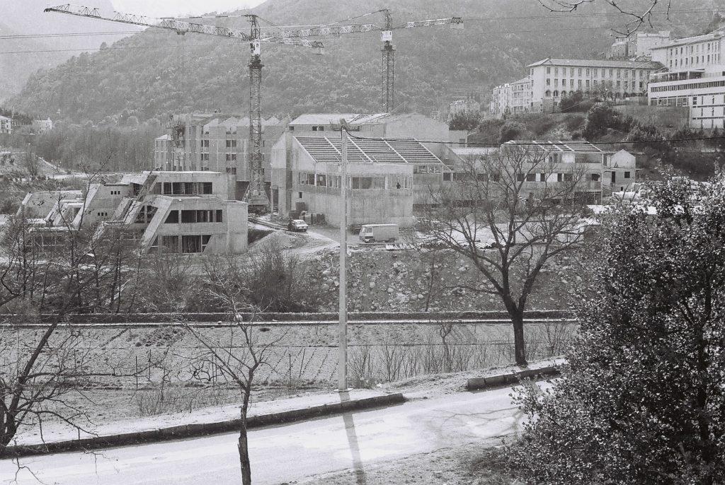 Le chantier du campus Mariani, 1979-1981
