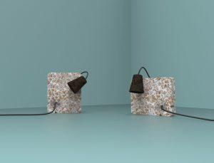 Lampes en liège réalisées dans le cadre de Fabbrica design