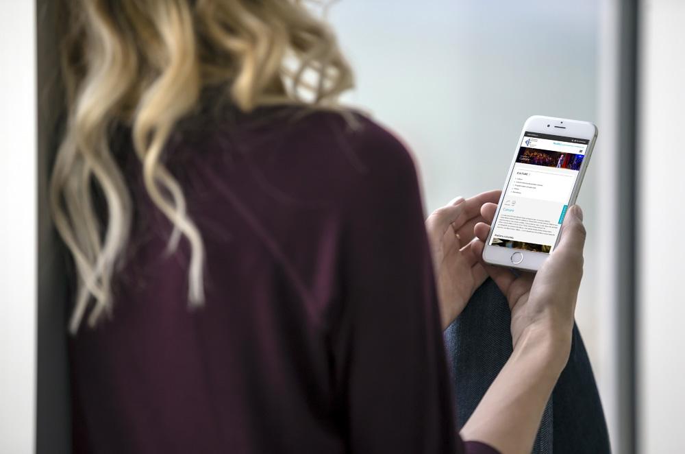 Le portail Studià, vu sur smartphone