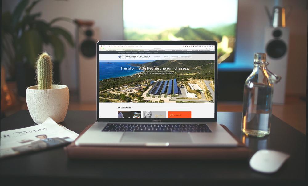 Nouveau site internet de l'Université de Corse