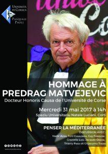 Affiche Hommage Predrag Matvejevic